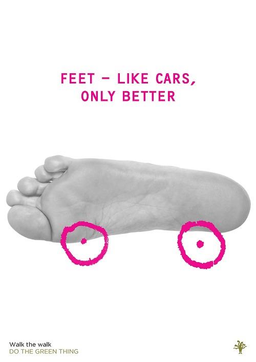'Feet like cars' by Marina Willer