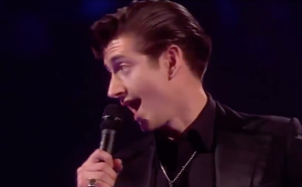 Alex Turner Arctic Monkeys - Brit Awards 2014